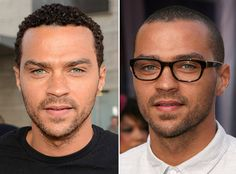 Jesse Williams! Much hotter in glasses!