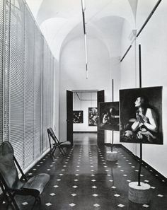Franco Albini, interior of INA office building, Parma, Italy, built in 1950-4