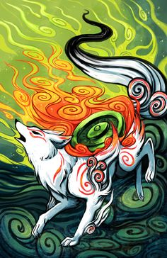 Okami by michellescribbles.deviantart.com on @deviantART