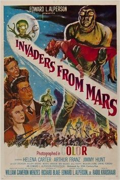 INVADERS FROM MARS vintage movie poster FANTASY THRILLER sci-fi 24X36 NEW