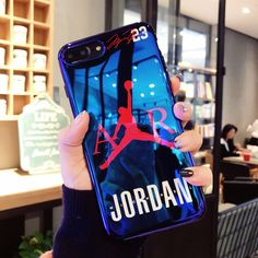3a98a3f2919d Buy New fly man Michael Jordan Blu-ray soft silicon cover case for iphone 6  7 plus 8 X XS MAX XR jump man phone cases coque