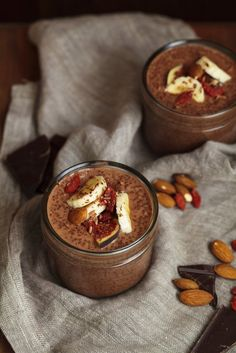 This chocolate chia pudding is such a delicious dessert! If you like all things decadent, you will love this one. The flavours go so well together and its super easy to make. This recipeserves 2. Ingredients25g chia seeds1 medium banana, cut in half135ml milk of choice1 1/2 tbsp raw cacao powder1 tbsp maple syrup30g goji berries1 medium fig, sliced10g almonds  Directions 1. Place the chia seeds and one half of the banana into a medium bowl and mash with a fork until well combined. Add the…