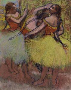 Edgar Degas French, 1834–1917 Three Dancers with Hair in Braids (Trois danseuses les cheveux en tresses) c. 1900