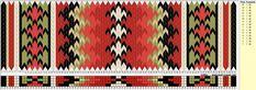 Tradisjonelle belte-mønstre i brikkevev til Øst-Telemark bunaden. Inkle Weaving, Inkle Loom, Card Weaving, Tablet Weaving Patterns, Viking Knit, Weaving Projects, Book Of Shadows, Bohemian Rug, Knitting