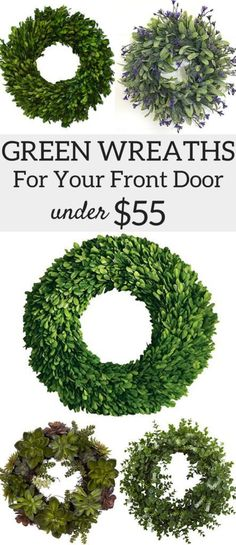 A Brick Home: Wreaths for front door, wreath ideas…