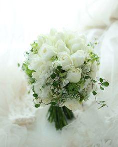 シェアブーケ シェラトン・グランデ・トーキョーベイ・ホテルさまへ 結婚式の手作りの花と、雪 : 一会 ウエディングの花