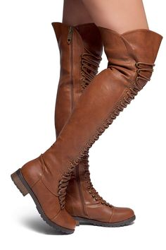 05343aebcbe824 Herstyle Kristrrina Women Military Lace Up Thigh High Combat Boots - Boots  - Shoes - Frequently updated comprehensive online shopping catalogs