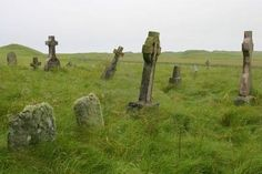 Old Scottish graveyard in South Uist, off the west coast of Scotland. This graveyard is where my ancestors are buried. RA.