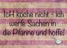 Kochen - lustige Postkarte Spaß Karte Spass Freude von Poster-kreativ.de auf DaWanda.com
