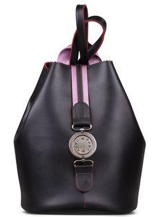 51eb85625f Γυναικεία τσάντα πλάτης FRNC by Francesco με διακοσμητική μεταλλική αγκράφα  και εσωτερικό πορτοφόλι.Κλείνει με