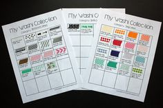 Paper Lovers Studio: Freebie Friday #2: Organizing Your Washi Collection. Washi Charts