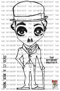 Charlie+Chaplin+Digital+Stamp+Image+by+TheOctopodeFactory+on+Etsy,+$3.20