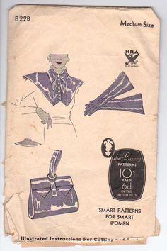 6e03acaa0b1 1930 s du Barry NRA Women s Accessories Pattern by retromonkeys
