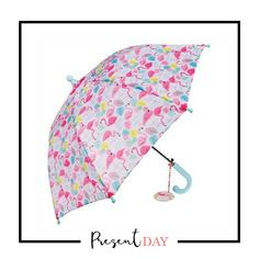 Flamingo Children's Umbrella: You'll always be able to spot this bright and cheerful Flamingo umbrella in the coat rack. Take home this children's spring-loaded umbrella and bring a smile to your child's face on a rainy day. Material: Metal, fabric, plastic  Dimensions: length: 39 cm, diameter of umbrella when open: 67cm. Price: R275