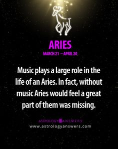 #Aries :) I love music so much it's what keeps me going and inspires me x
