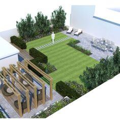 Concept plans for a project in West Wittering. A family garden to entertain in and to incorporate a large home office. #gardendesign…