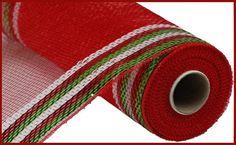Deco Mesh Crafts, Ribbon Crafts, Christmas Border, Christmas Deco, Wreaths And Garlands, Deco Mesh Wreaths, Wreath Supplies, Craft Supplies, White Wreath