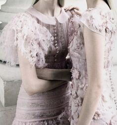 Detail of Chanel Couture F/W 2012 featured in 'Simply Elegant' by Patrick Demarchelier for Vogue China Collections