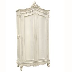 Classical White Large armoire wardrobe from Sweetpea & Willow