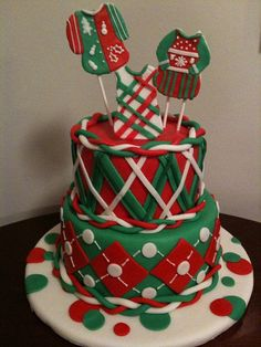 Ugly Sweater Cake -  A must-have at your next ugly Christmas sweater party! :)