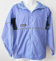 Unisex Columbia Youth Hooded Windbreaker Raincoat Full Zipper Nylon sz 18 - 20 #Columbia #BasicJacket #Everyday