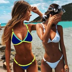 2019 Sexy Thong Micro Bikinis Women Swimsuits Solid Push up Swimwear Female Bikini set Brazilian Biquini Bathing Suit - L Source by CreativeDreamscape accessories Vintage Swimsuits, Women Swimsuits, Fashion Swimsuits, Bikini Fashion, Push Up Bikini, Sexy Bikini, Thong Bikini, Fashion Kids, Bikini Outfits