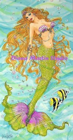 PRINCESS ~ Mermaid Fantasy Art  4 x 8 Le Giclee Print DS Martin