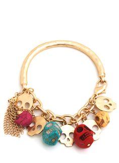 skull charm bracelet