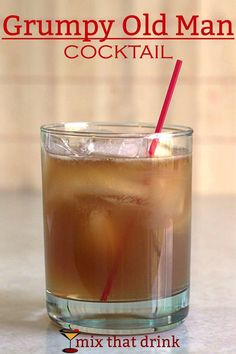 The Grumpy Old Man cocktail recipe features bourbon, lime and ginger ale, making it a little bit like a Moscow Mule. I'm not sure there it got the name. Unlike a Grumpy Old Man, it's charming and refreshing.