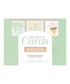 Look at this Neapolitan Boxed Card Set on #zulily today!