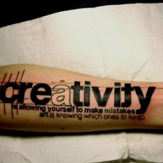 Although I'm pretty sure no one in the office would get this tatted on their forearm, it is still a great ideal!