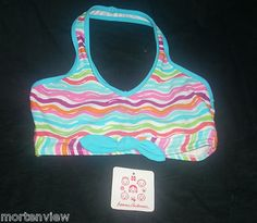 New Hanna Andersson Girls Striped Swimming Suit Top Pool Beach Summer 120 | eBay $14.99
