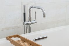 #AshgroveHomes #LambourneHouse #Bathroom #Ensuite #Bath #Tap #Brassware #Purist Case Study, Beautiful Homes, Building A House, Sink, Flooring, Bathroom, Home Decor, House Of Beauty, Sink Tops