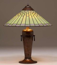 For Auction: Roycroft Dard Hunter Leaded Glass Hammered Copper Table ( on Mar 2020 Copper Table Lamp, Roycroft, Hammered Copper, Leaded Glass, Fine Furniture, Floor Lamp, Art Decor, Glass Art, Auction