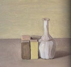 Still life with green box | Giorgio Morandi | 1954