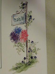 Flower Set of 6 Stamps L K Examples Art Impressions Rubber Stamps | eBay