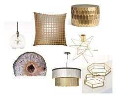 """My gold sparkle dream home collection"" by rvaclothingshop on Polyvore"