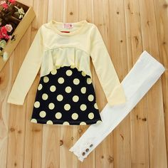 baby girl's fashion red white polka dots ruffle smocked dress kids autumn korean children clothing cotton long sleeve dresses-inDresses from...