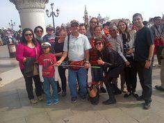 Fotografía: Guía Ana Gloria -Con su grupo en Venecia