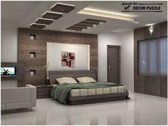 LED Lights Revolutionized Interior Design And Allowed Creating Fabulous  Bedroom Furniture Pieces That Seem Floating In The Air In The Glow Of  Built In ...