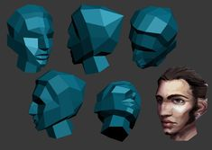 Quick test of a low poly topology I found (based on facial planes) also planar mapped that texture on for a quick test, I know it doesn't fit Made in 3dsmax because people keep asking