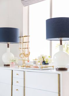 Master Bedroom Reveal Emily Henderson Design White Pink Blue and Gold-101