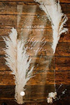 Trends In Wedding Decor 2019 ★ wedding decor 2019 acrylic welcome stand with pampas grass light as gold Lilac Wedding, Green Wedding Shoes, Boho Wedding, Wedding Bouquets, Dream Wedding, Fall Wedding, Wedding Colors, Rustic Wedding, Wedding Flowers