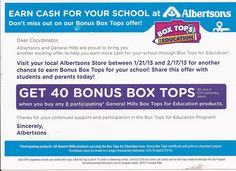 @Jenny Tops for Education and Albertson's have teamed up for some very nice bonus opportunities!