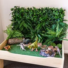 Farmers Market Dramatic Play Set Little Lifelong Learners Toy Rooms Dramatic Farmers Learners Lifelong Market play Set Dinosaur Diorama, Dinosaur Play, Dinosaur Small World, Small World Play, Dinosaur Projects, Activities For Kids, Crafts For Kids, Infant Activities, Ideias Diy