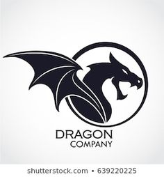 Dragon Crafts, Wings Logo, Dragon Boat, Circle Logos, Vector Photo, Portfolio, Illustrations, Logo Inspiration, Pointillism