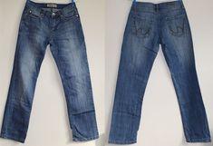 Genuine Cars Womans Basic Straight Jeans Size 36 Leg 30 Blue Cotton Quality