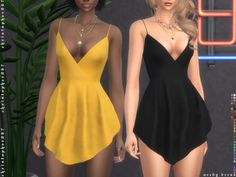 Needy Dress for The Sims 4 Sims Baby, Sims 4 Teen, Sims Four, Sims 4 Toddler, Sims Cc, Sims 4 Mods Clothes, Sims 4 Clothing, Sims 4 Black Hair, Sims 4 Dresses