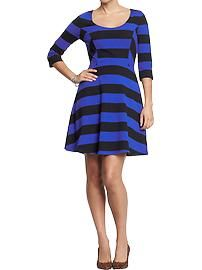 Women's Striped Jersey Dresses