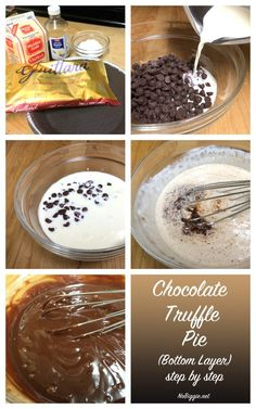 how to make a chocolate truffle pie - bottom layer | NoBiggie.net